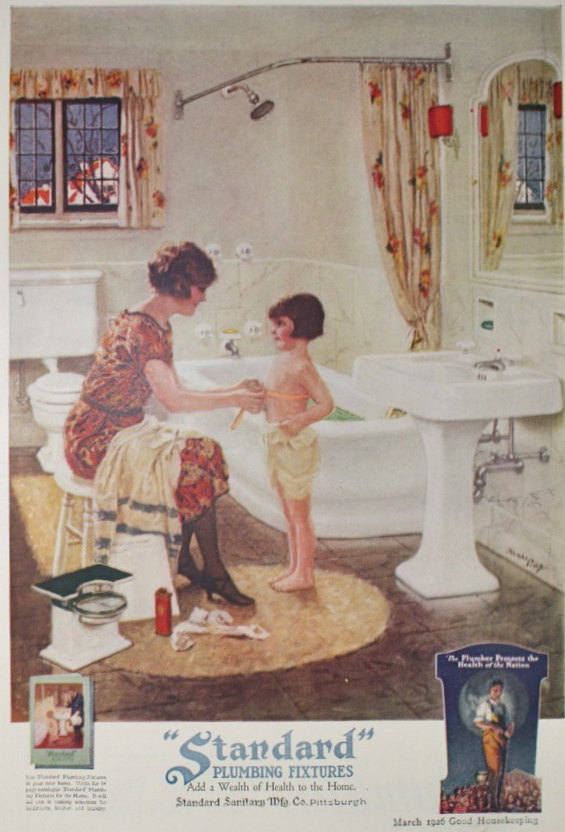 Vintage Magazine Advertisements For Your Bathroom Hannahs Treasures Wallpaper Blog