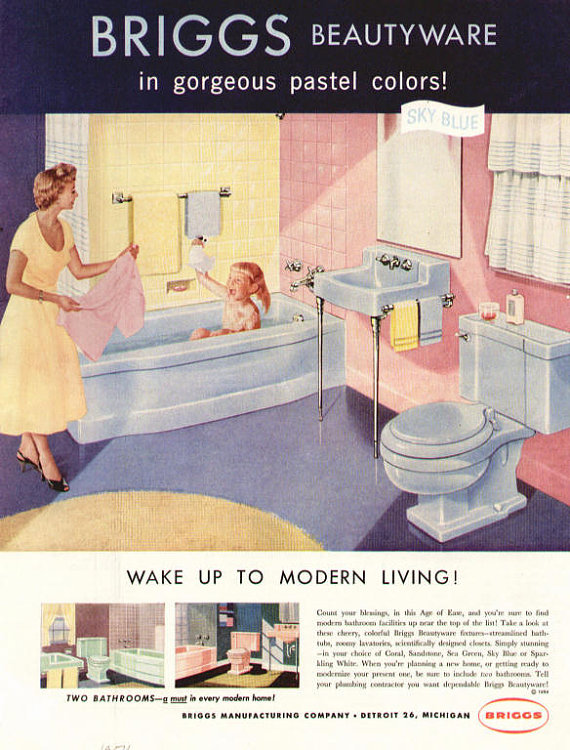 Vintage Magazine Advertisements for Your Bathroom (Hannah's Treasures Vintage Wallpaper Blog)