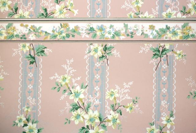 ... vintage wallpaper border. IMG_0483 - Better Together: Vintage Wallpaper And Borders In Pretty Pairs