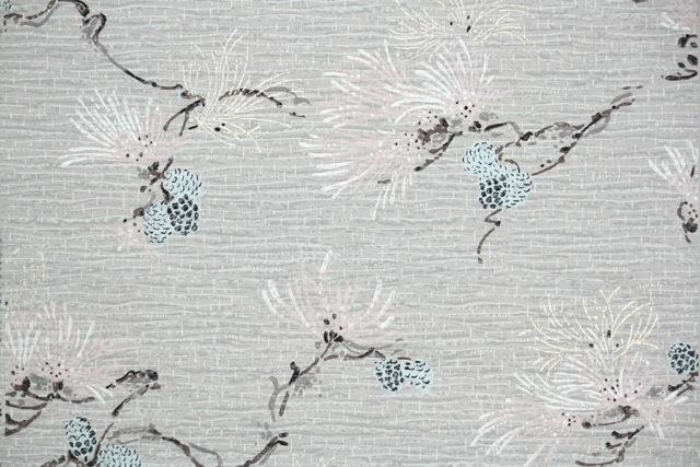 blue pine cone vintage wallpaper