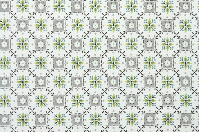 green and gray geometric vintage wallpaper