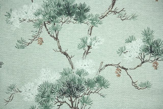 Pine Cone Vintage Wallpaper