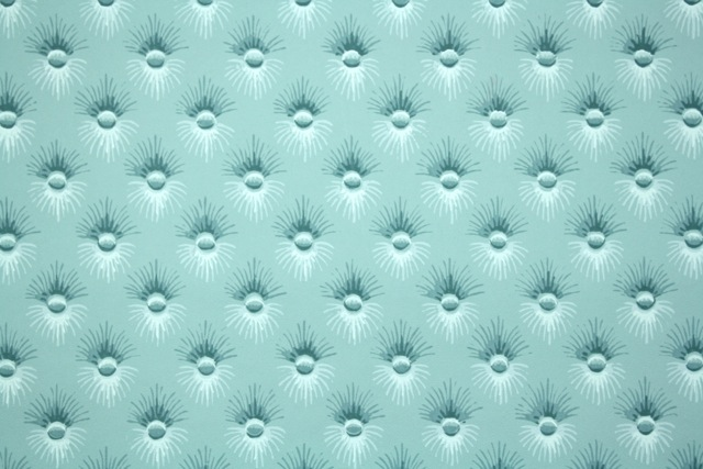 Blue Button-Tufted Vintage Wallpaper