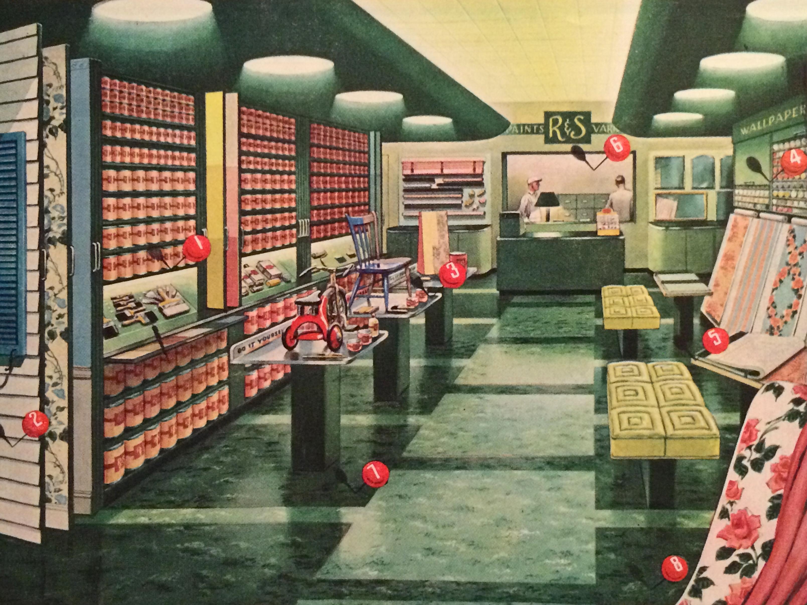 Fantastic Find 1940 s Armstrong s Linoleum Floors Advertisement