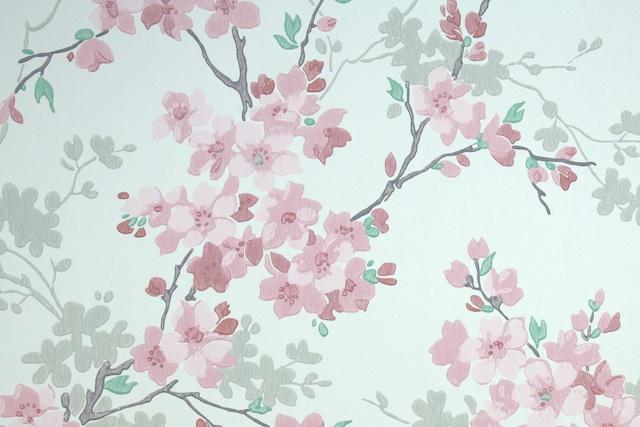 Cherry Blossoms And Lanterns Hannahs Treasures Vintage Wallpaper Blog