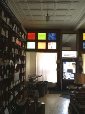 Old paint, glass, and wallpaper shop