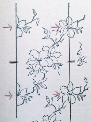 Straight wallpaper pattern diagram