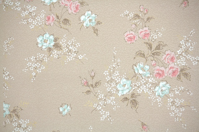 Hannah's Treasures Vintage Wallpaper Floral