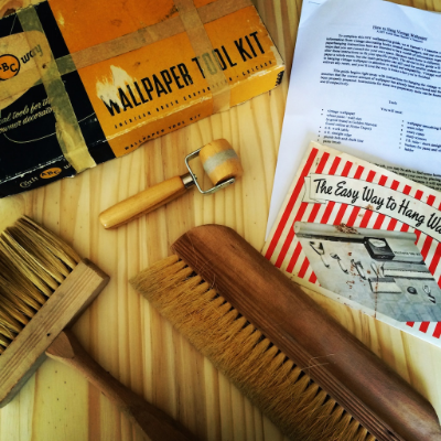Antique Vintage Wallpaper Paperhanger Tools - How to Hang Vintage Wallpaper by Hannahs Treasures