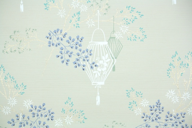 vintage wallpaper asian lanterns