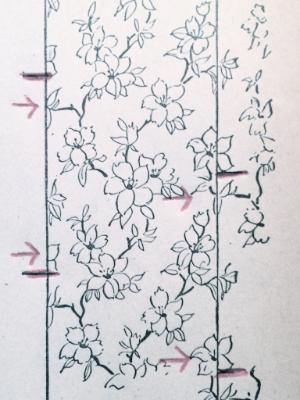 Drop wallpaper pattern diagram