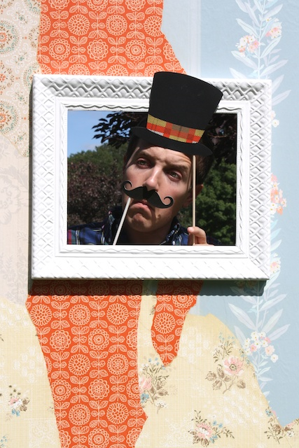 Vintage Wallpaper Photo Booth