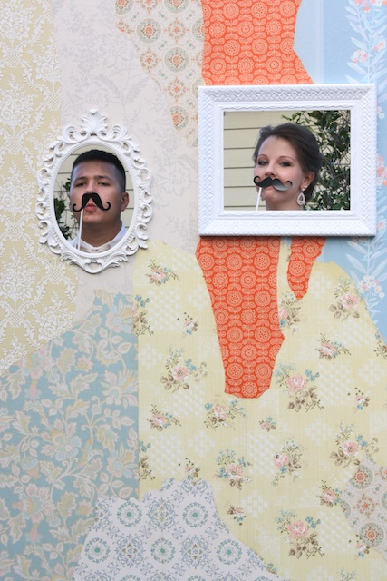 Vintage Wallpaper Wedding Photo Booth