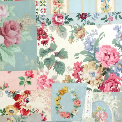 Vintage Wallpaper Patchwork