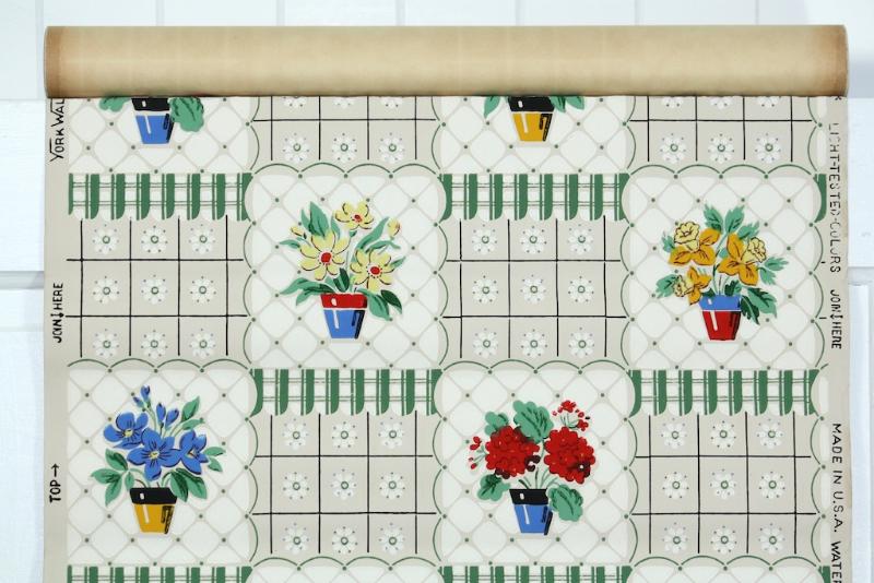 vintage wallpaper kitchen design - Hannah's Treasures Blog