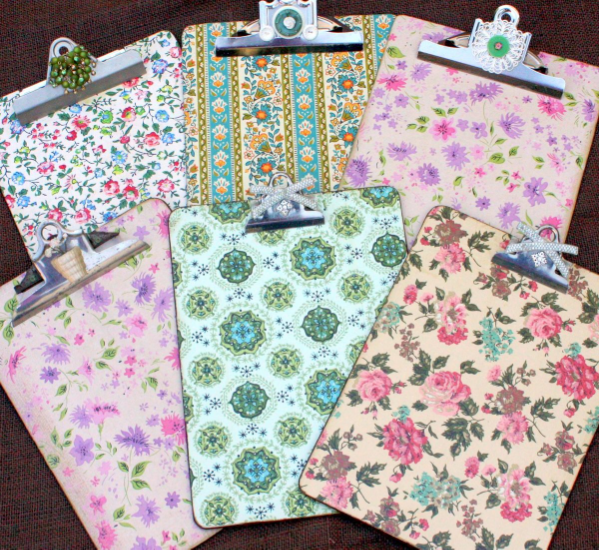 Vintage Wallpaper Clipboard Craft Tutorial