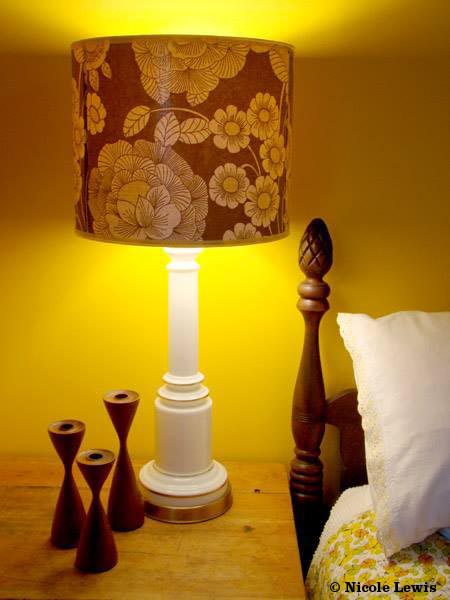 vintage wallpaper lamp shade from Fondue Vintage Homewares