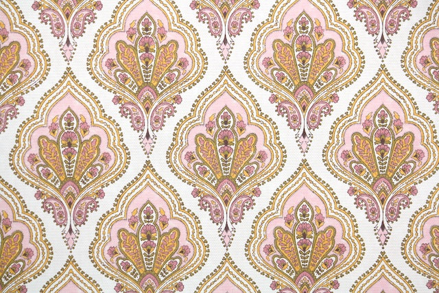 retro vintage wallpaper European design