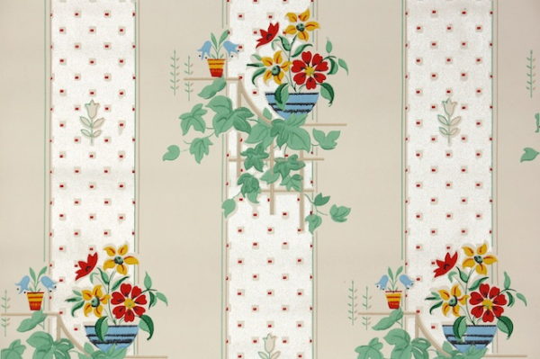 Vintage Wallpaper from Hannahs Treasures
