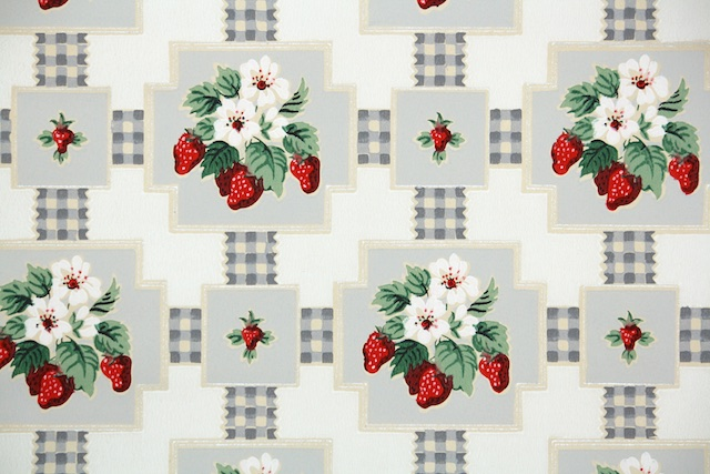 Vintage Kitchen Wallpaper from Hannahs Treasures Vintage Wallpaper