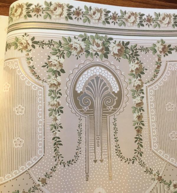 1913 antique wallpaper sample book