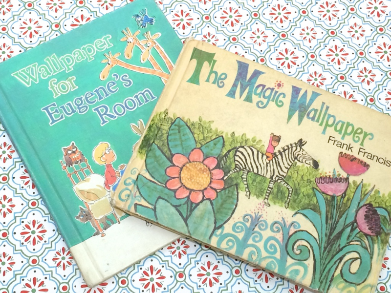 Vintage Children's Books About Wallpaper