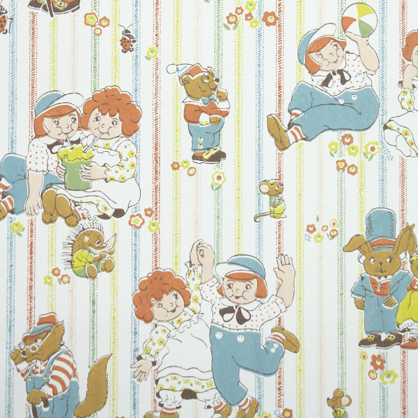 Vintage Wallpaper - Childrens Raggady Ann