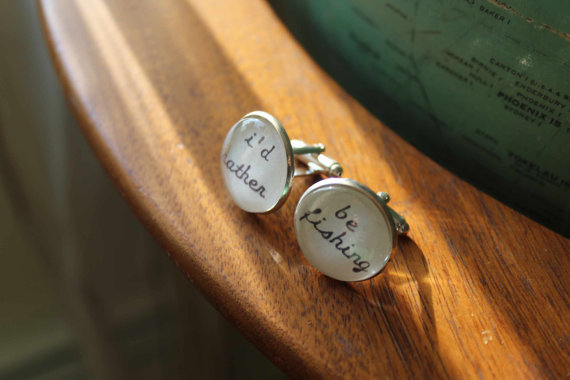 cuff links from Vintagetypegirl on Etsy