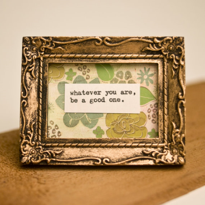 Vintagetypegirl framed quote on Etsy