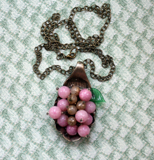 Spoonful of Berries Repurosed Necklace from Mitzi's Collectibles