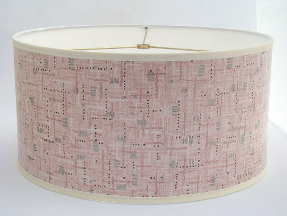 vintage wallpaper lamp shade from Fondue on Etsy