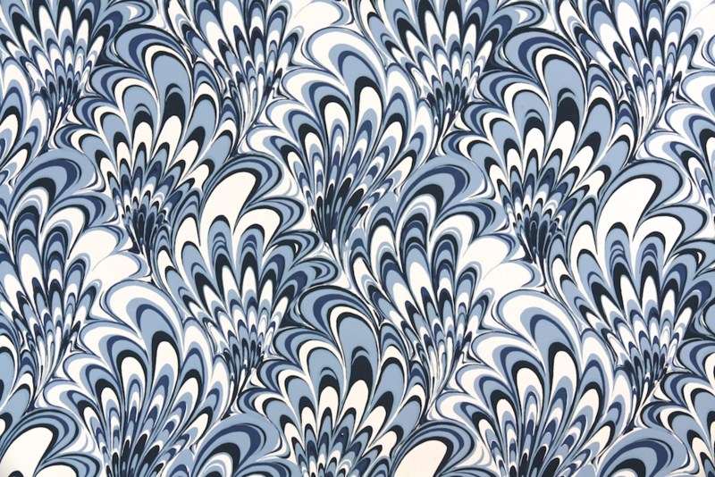 blue wave vintage wallpaper from Retro Wallpaper on Etsy