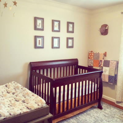 neutral baby boy woodland & wild game nursery