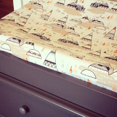 changing table cover on Etsy