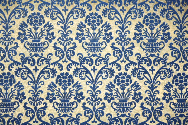 vintage flock wallpaper - Hannah's Treasures