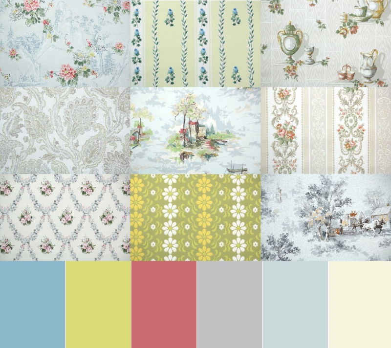 1930s European Vintage Wallpaper Palette