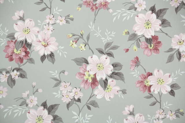 floral vintage wallpaper from Hannah's Treasures