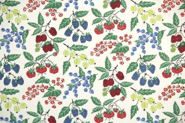 1950s Fruit Kitchen Wallpaper