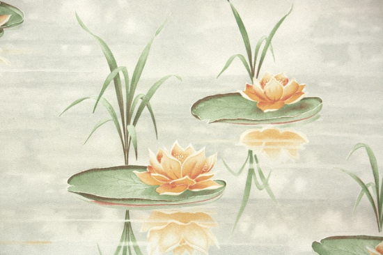 Water Lilies vintage wallpaper from Hannahs Treasures Vintage Wallpaper