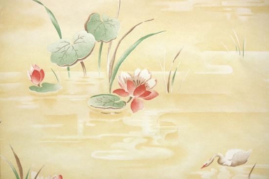water lily vintage wallpaper from Hannah's Treasures Vintage Wallpaper