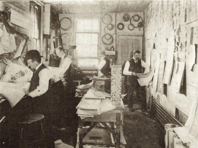 process of making antique wallpaper