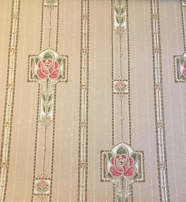 1913 antique wallpaper book