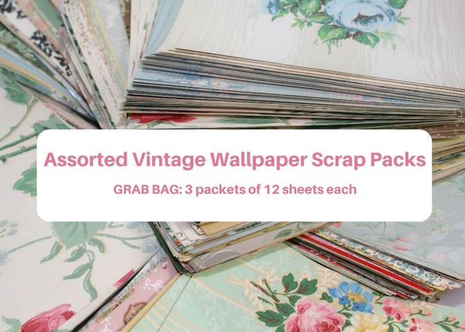 Assorted Vintage Wallpaper Scrap Packs