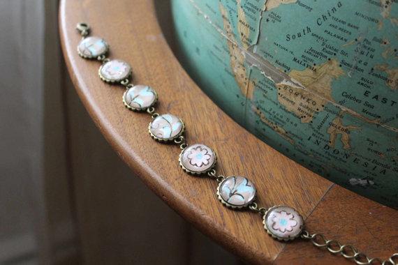 vintage wallpaper bracelet from Vintagetypegirl on Etsy