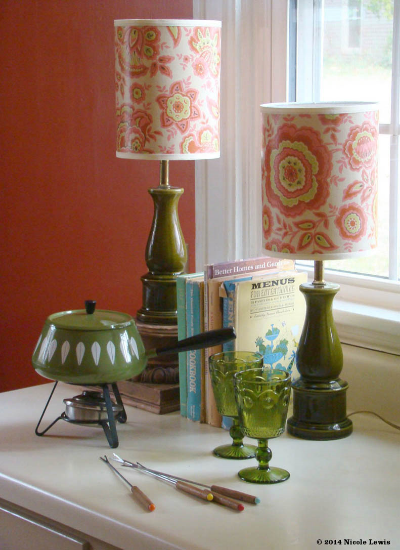 Vintage Wallpaper Lamps from Fondue Vintage Homewares