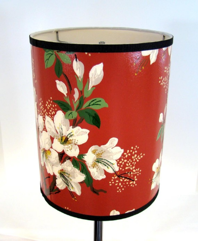vintage wallpaper lamp shade by Fondue on Etsy