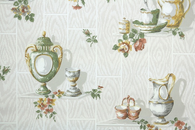 1930s European Kitchen Vintage Wallpaper from Hannahs Treasures