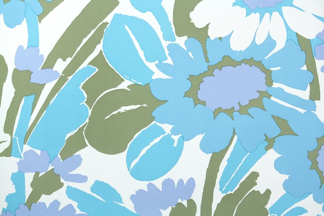retro daisy wallpaper from Hannahs Treasures