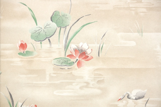 water lily vintage wallpaper from hannahs treasures vintage wallpaper