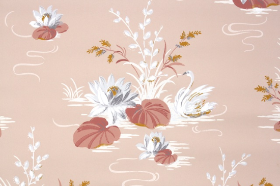 Peach Bathroom Vintage Wallpaper from Hannahs Treasures Vintage Wallpaper